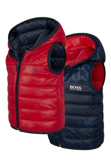 Baby Boys Reversible Padded Gilet