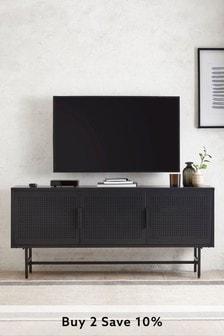 Black Locker Wide TV Stand