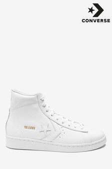 Converse White Pro Leather Trainers