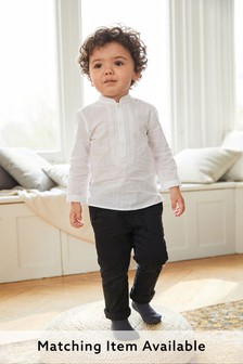 White Embroidered Tunic/Kurta (3mths-7yrs)