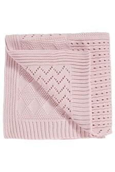 Pink Knitted Blanket (Newborn)
