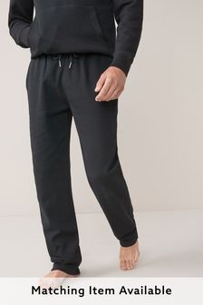 Black Open Hem Joggers Loungewear