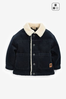 Blue Cord Borg Lined Jacket (3mths-7yrs)