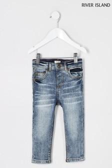 River Island Denim Medium Sid Statham Mid Wash Jeans
