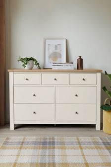 Chalk Malvern 7 Drawer Wide Chest