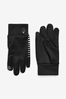 Black Reflective Sporty Gloves (Older)
