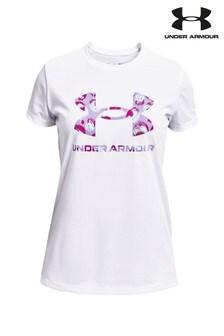 Under Armour Girls Tech Logo Fill T-Shirt