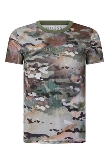 Boys Camouflage Print Cotton T-Shirt