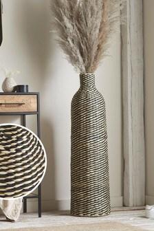 Black Extra Large Woven Vase