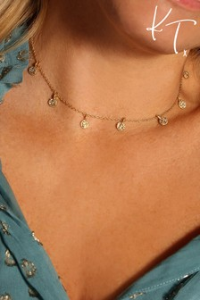 Kate Thornton Gold Boho Choker Necklace