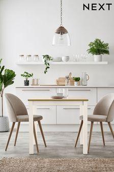 Classic Cream Malvern Square 4 Seater Dining Table