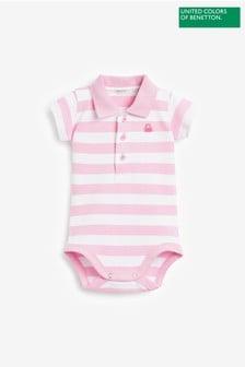 Benetton Pink Polo Bodysuit