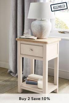 Stone Hampton Slim 1 Drawer Bedside Table
