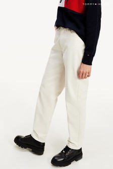 Tommy Hilfiger White Relaxed Tapered Jeans