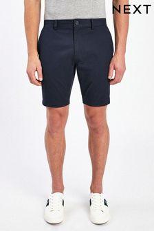 Navy Skinny Fit Stretch Chino Shorts