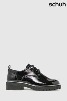 Schuh Black Lola Lace-Up Shoes