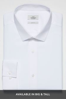39 Mens SLIM-FIT BLUE WHITE LONG-SLEEVE COTTON DRESS SHIRT $292 HUGO BOSS 15.5