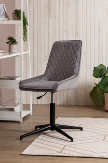 Opulent Velvet Steel Hamilton Static Office Chair