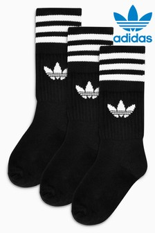 adidas Originals Kids Trefoil Crew Socks Three Pack