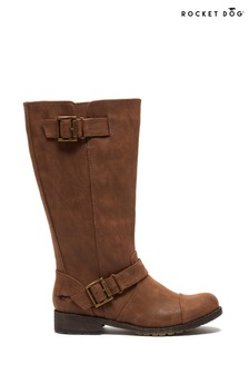 Rocket Dog Brown Berry Biker Boots