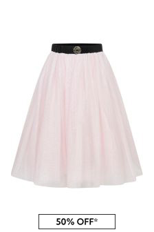 Girls Pink Shimmer Tulle Skirt