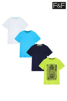 F&F Green Skater T-Shirts Four Pack