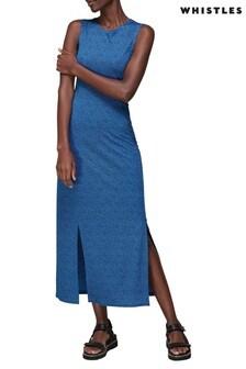 Whistles Animal Print Jersey Dress