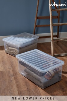 Set of 2 Crystal 45L Boxes by Wham