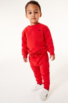 Red Crew and Joggers Jersey Set (3mths-7yrs)