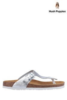 Hush Puppies Silver Kayla Slip-On Sandals