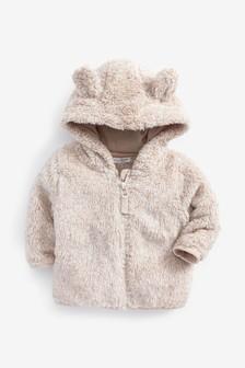 Ecru Cosy Fleece Bear Jacket (0mths-2yrs)