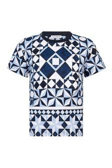 Dolce & Gabbana Kids Dolce & Gabbana Boys Navy Cotton T-Shirt