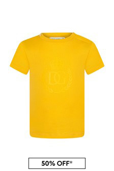 Dolce & Gabbana Kids Baby Boys Yellow Cotton T-Shirt