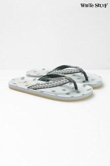 White Stuff Grey Star EVA Flip Flops
