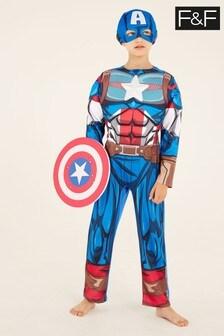 F&F Multi Red Captain America Dress Up