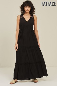 FatFace Black Tresco Maxi Dress