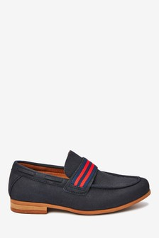 Navy Tape Loafers (Older)