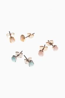 Pastel Stud Earrings Three Pack