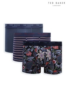 Ted Baker Patterned Trunks Three Pack