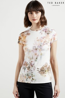 Ted Baker White Ayleyc Vanilla Fitted T-Shirt