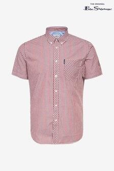 Ben Sherman Red Short Sleeve Signature Core Gingham Shirt