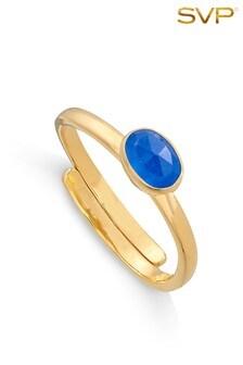 Mix/SVP Gold Vermeil Atomic Micro Ring