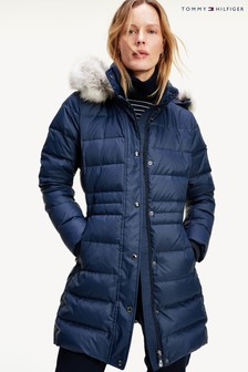 Tommy Hilfiger Blue Tyra Down Coat