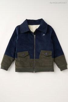 Angel & Rocket Grey Mixed Fabric Harrington Jacket