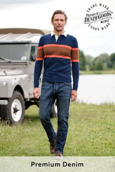 Vintage Wash Straight Fit Premium Textured Jeans