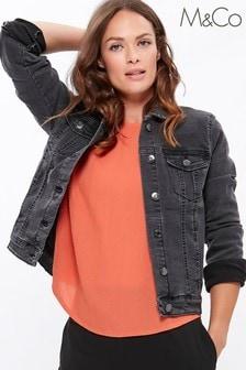 M&Co Black Denim Western Jacket