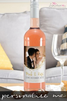 Personalised Photo Upload Rosé Wine by Signature PG