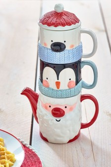 Santa and Friends Tea for Two Set