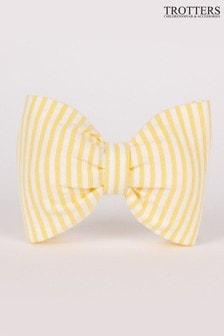 Trotters London Yellow Seersucker Hair Bow