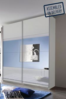 Grey Central Mirror Courtney 1.81m Sliding Wardrobe by Rauch